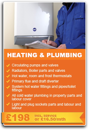 Heating & Plumbing Cover in Merseyside